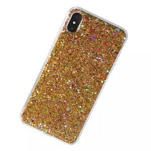 NEW iPhone X/XS/7+/8+ Gold Glitter Soft TPU Case